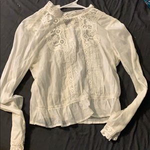White sheer top. Never worn